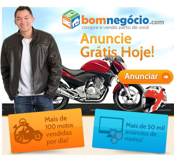 Anuncie grátis hoje! Mais de 100 motos vendidas por dia! Mais de 50 mil anúncios de motos!