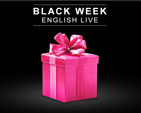 Promoção Black Week English Live